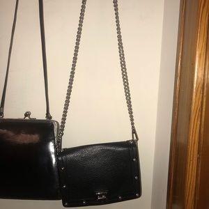 Black Rebecca Minkoff crossbody purse